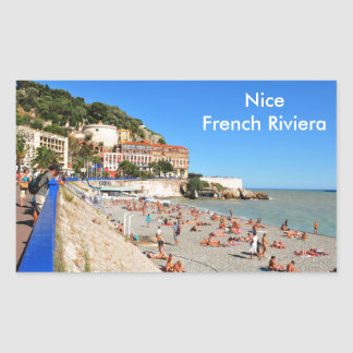 Nice. French Riviera Rectangular Sticker