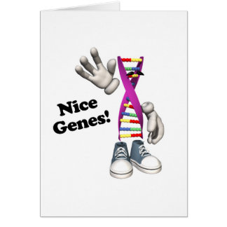 Nice Genes Funny DNA Strip Character Card