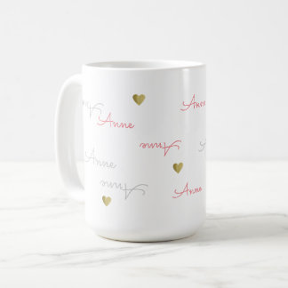 nice girl name typography love coffee mug