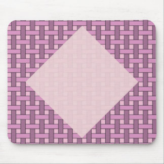 nice Grid, pink Insert your Text Mousepad