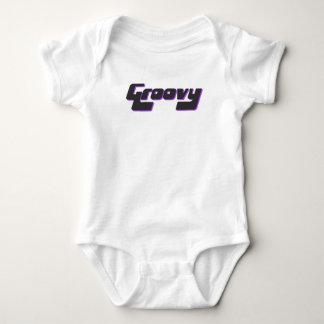 Nice Groovy Print Baby Bodysuit