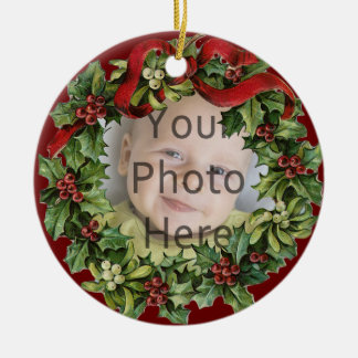 Nice Holly Wreath Baby s First Christmas Ornament