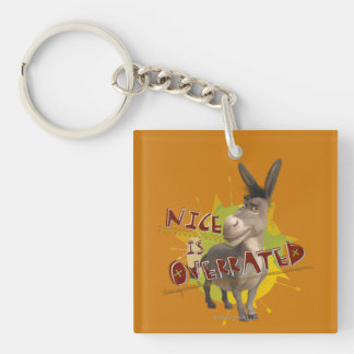 Nice Is Overrated Double-Sided Square Acrylic Key Ring