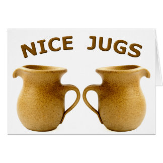 Nice Jugs Greeting Card