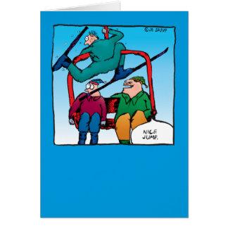 Nice Jump! Skiers Christmas Card