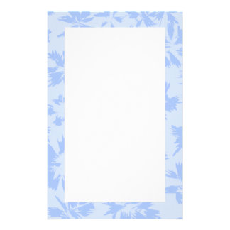 Nice light blue floral pattern. personalised stationery