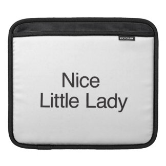 Nice Little Lady ai iPad Sleeves