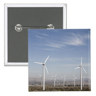 Nice looking windmills in the desert 15 cm square badge