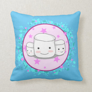 Nice Marshmallows Throw Pillow