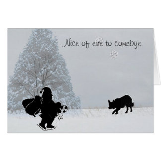 """Nice of ewe to comebye""~Border Collie Christmas Card"