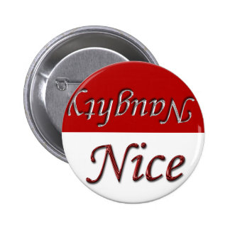 Nice Or Naughty Holiday Season Xmas Christmas 6 Cm Round Badge