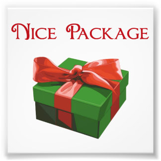 Nice Package Christmas Present Photo Print