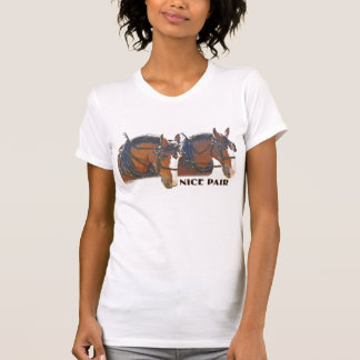 """""""Nice Pair"""" Clydesdale Draft Horse T Shirts"""
