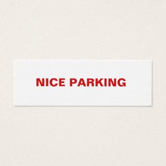 NICE PARKING MINI BUSINESS CARD