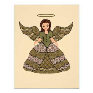 Nice Patchwork Angel Card