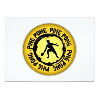 Nice Ping Pong Seal 13 Cm X 18 Cm Invitation Card