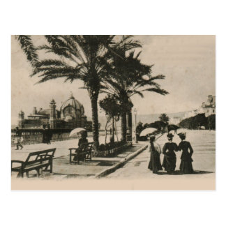 Nice promenade by the beach Replica postcard 1908