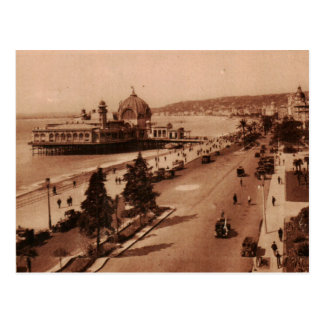 Nice promenade casino & beach postcard 1930