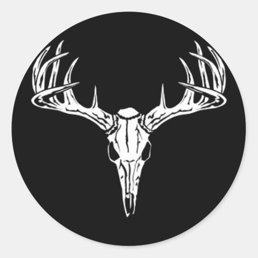 Nice Rack-Trophy Buck-Deer Rack Round Sticker