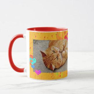 Nice russet-red cat mug