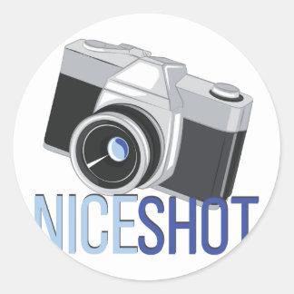Nice Shot Round Sticker