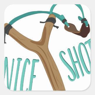 Nice Shot Square Sticker