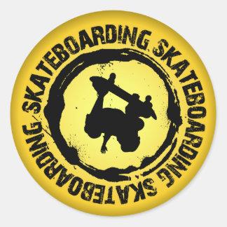Nice Skateboarding Seal 2 Round Stickers