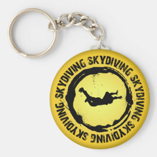 Nice Skydiving Seal Basic Round Button Key Ring