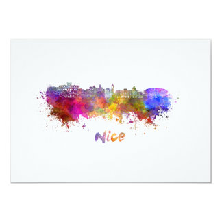 Nice skyline in watercolor card