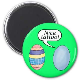Nice Tattoo Easter Eggs Magnet