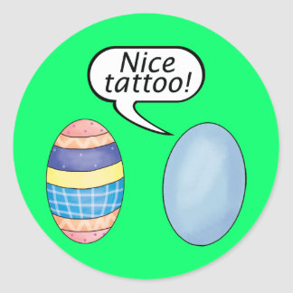 Nice Tattoo Easter Eggs Classic Round Sticker