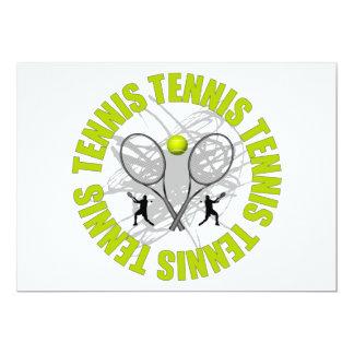 Nice Tennis Emblem 13 Cm X 18 Cm Invitation Card