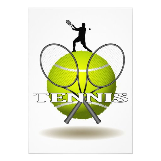 Nice Tennis Insignia Personalized Invite