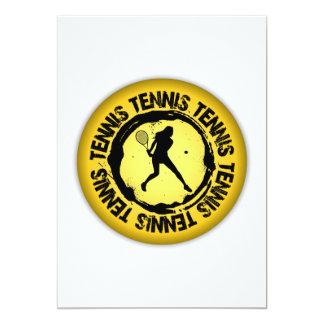 Nice Tennis Seal  (Female) 13 Cm X 18 Cm Invitation Card