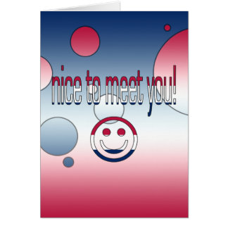 Nice to Meet You! America Flag Colors Pop Art Note Card