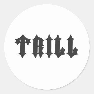 Nice Trill Print Classic Round Sticker