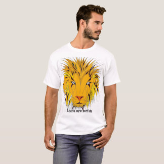 Nice unique graphic of a lion on your front. T-Shirt