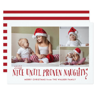 Nice Until Proven Naughty Funny Holiday Card