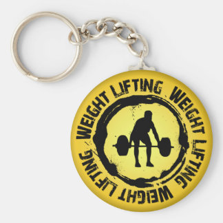 Nice Weight Lifting Seal Basic Round Button Key Ring