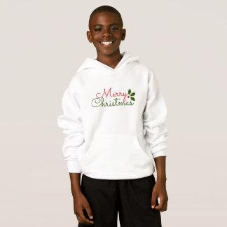 NICE WHITE HOODIE : MERRY CHRISTMAS