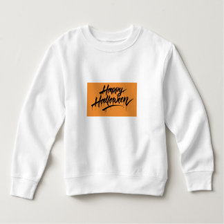 NICE WHITE SWEATSHIRT TODDLER : HALLOWEEN