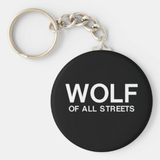 Nice Wolf of all Streets Print Key Ring