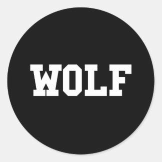 Nice Wolf Print Classic Round Sticker