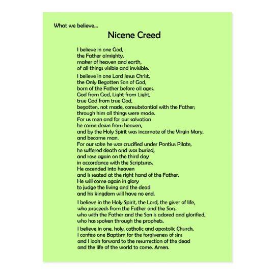 Nicene Creed Postcard ~ Customisable