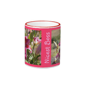 Nicest Boss Coffee Mugs Pink Lily Flower Bosses