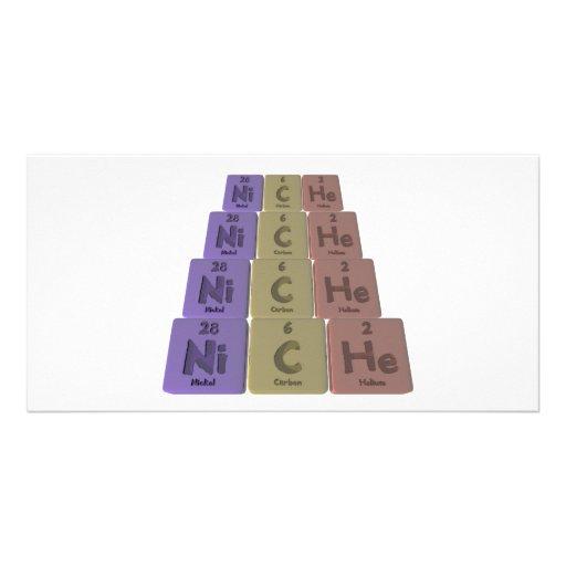 Niche-Ni-C-He-Nickel-Carbon-Helium.png Photo Greeting Card