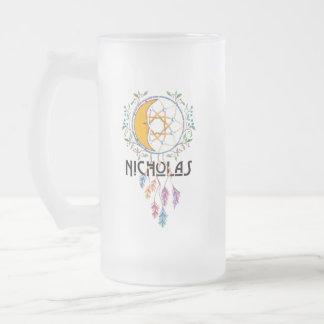 Nicholas Dreamcatcher Frosted Glass Beer Mug