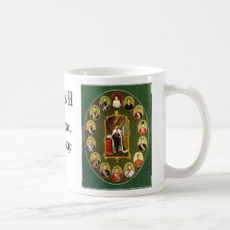 Nicholas II - Multiple, Nicholas II - Blue, Nic... Basic White Mug