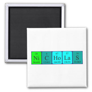Nicholas periodic table name magnet