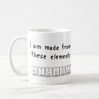 Nicholas periodic table name mug